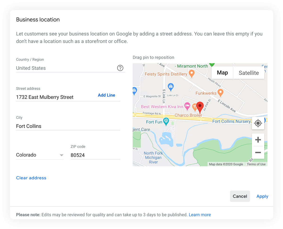 How To Change Your Business Address On Google - Google My Business